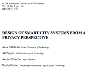 Design of Smart City Systems from a Privacy Perspective