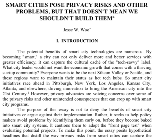 Smart Cities Pose Privacy Risks and Other Problems, But that Doesn't Mean We Shouldn't Build Them