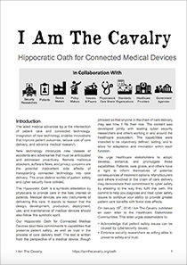 The-Cavalry-–-Hippocratic-Oath-for-Connected-Medical-Devices